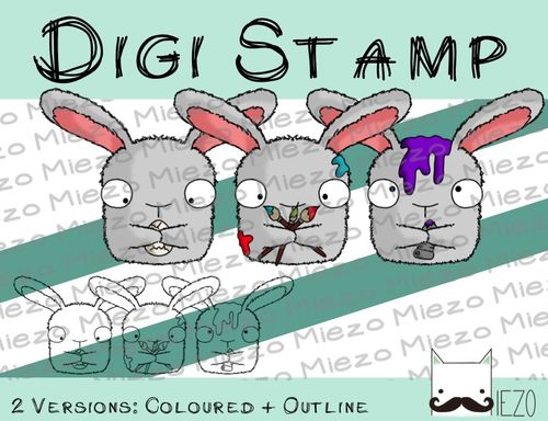 Digitaler Stempel, Digi Stamp Osterei-Malerei, 2 Versionen: Outlines, in Farbe