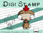 Digitaler Stempel, Digi Stamp Knirps , 2 Versionen: Outlines, in Farbe