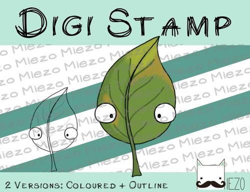 Digitaler Stempel, Digi Stamp Blatt , 2 Versionen: Outlines, in Farbe