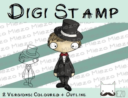 Digitaler Stempel, Digi Stamp , 2 Versionen: Outlines, in Farbe