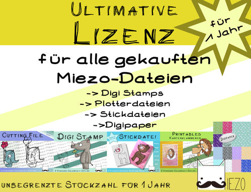 Ultimative Lizenz für Dateien (Digistamps, Plotterdateien, Stickdateien, Digipaper...) 1 Jahr