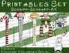 Set Schnipp-Schnapp-Adventskalender, 5 Printables, 2 Versionen: Outlines, in Farbe