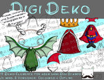 Digi Deko Fantasy II, Accessoires für Digistamps , je mind. 2 Versionen: Outlines,(1- 8) in Farbe
